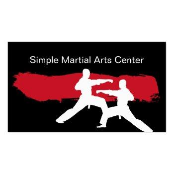 Small Simple Martial Arts Business Cards Front View