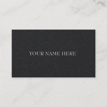 simple minimalist executive black business cards