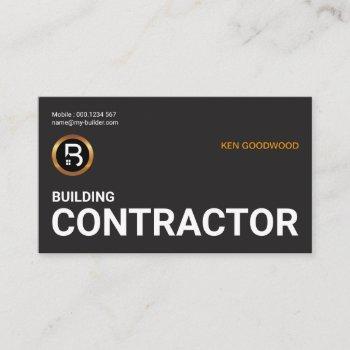 simple minimalist oversize job title construction business card