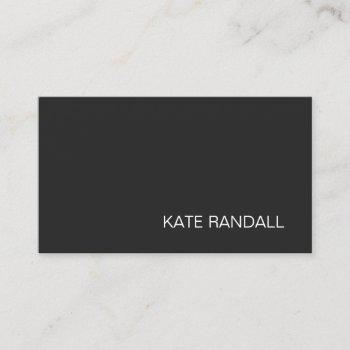 simple modern black professional business card