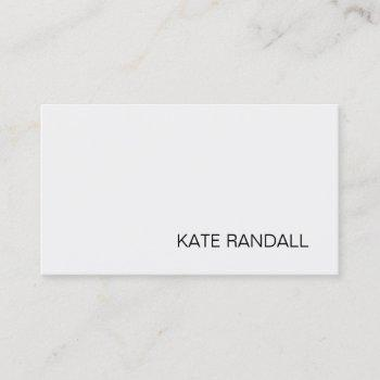 simple modern light gray professional business card