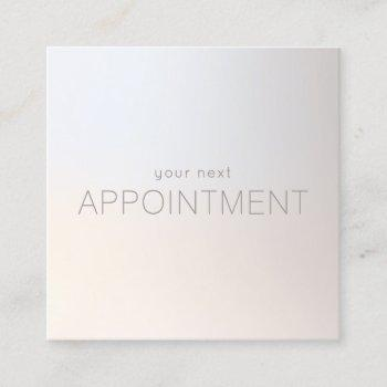 simple modern luminous appointment reminder
