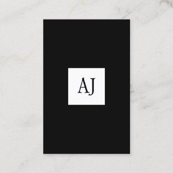 simple modern monogram elegant business card