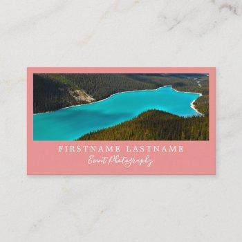 simple & modern photographer business cards