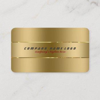 simple modern plain gold metallic design business card