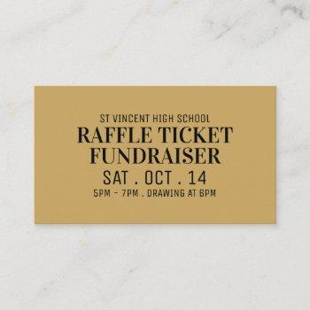 simple & modern, raffle ticket fundraiser event