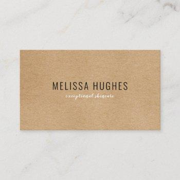 simple modern rustic kraft business card