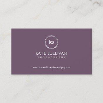 simple monogram business card - groupon