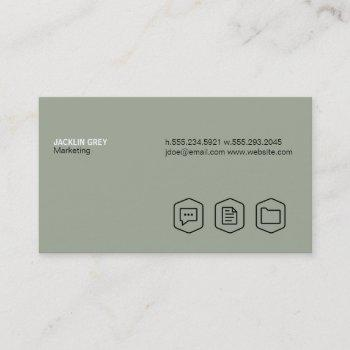 simple (olive green) business card