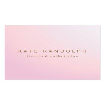 Small Simple Pink Lavender Ombre Esthetician Square Square Business Card Front View