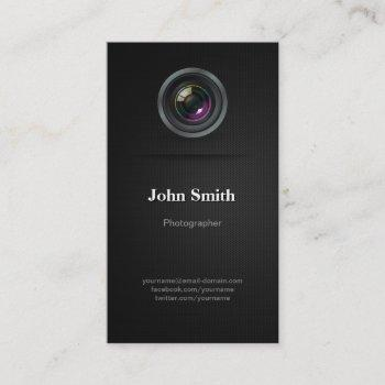 simple plain black - photographer cinematographer business card