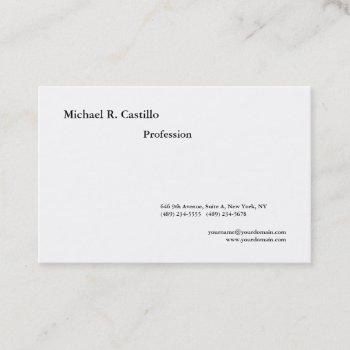 simple plain black white minimalist modern style business card