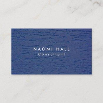 simple plain elegant modern blue wall minimalist business card