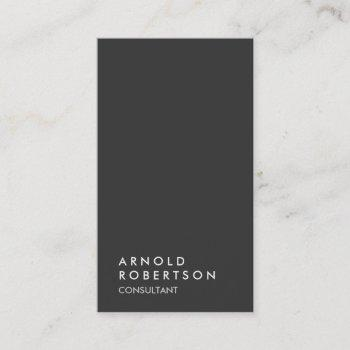 simple plain gray trendy modern minimalist simple business card