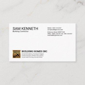 simple plain modern professional gold home icon business card