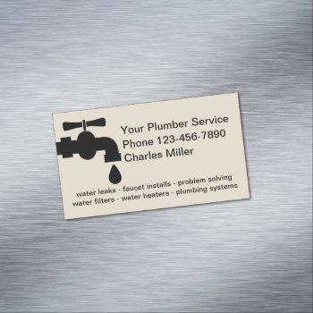 simple plumber business magnets