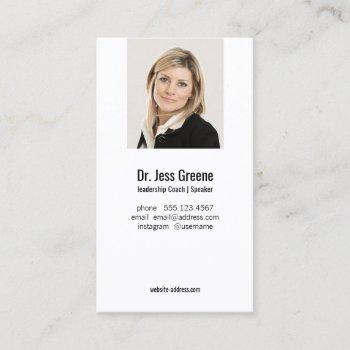 simple professional add image photo business card
