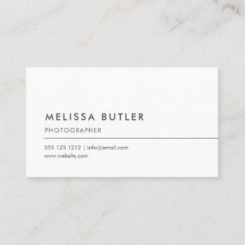 simple professional minimalist business card