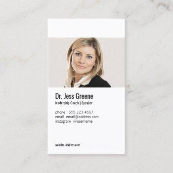 simple professional profile add photo image business card