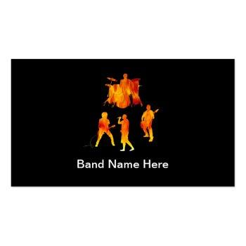 Small Simple Rock Band Business Cards Front View