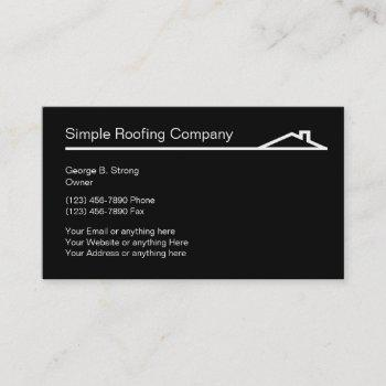 simple roofing business cards