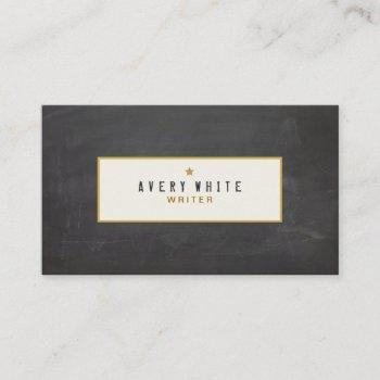 simple rustic vintage  chalkboard groupon business card
