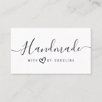 simple script handmade business business card