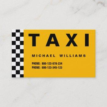 simple taxi taxista metal elegant professional business card