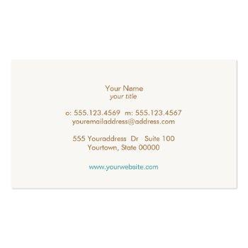Small Simple, Turquoise Blue, Stylish Minimalist Business Card Back View