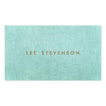 Small Simple, Turquoise Blue, Stylish Minimalist Business Card Front View