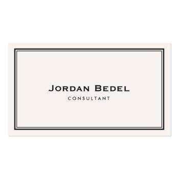 Small Simple White Classic Professional Business Card Front View