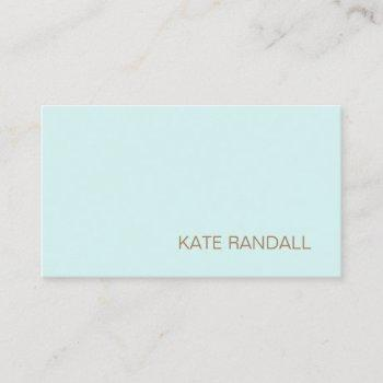 simpleturquoise blue beauty salon professional business card