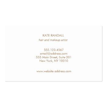 Small Simpleturquoise Blue Beauty Salon Professional Business Card Back View
