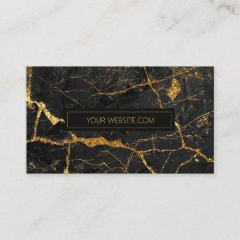simply marble black and gold std id672 business card