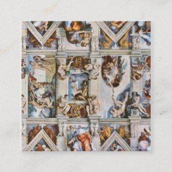 sistine chapel ceiling michelangelo square business card