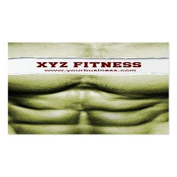 Small Six Pack Abs Fitness Ripped Business Card Front View