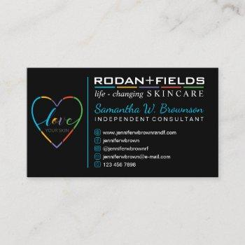 skincare life changing cosmetic business card