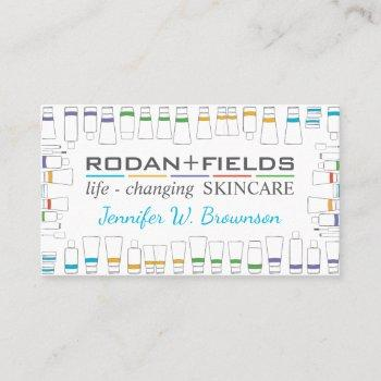 skincare product drawing business card