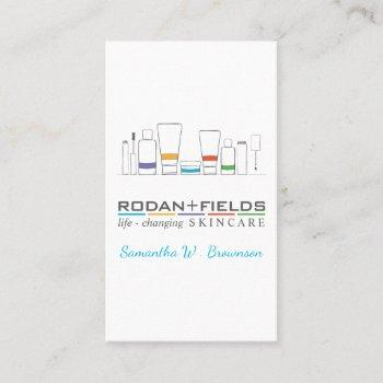 skincare products business card