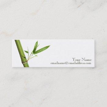 skinny profile card - bamboo