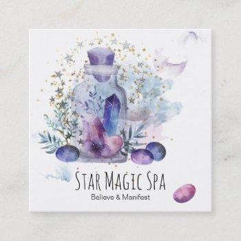 *~* sky cosmos universe stars crystals mason jar square business card