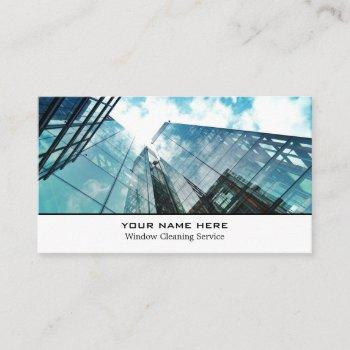 skyscrapers, window cleaners, cleaning service business card