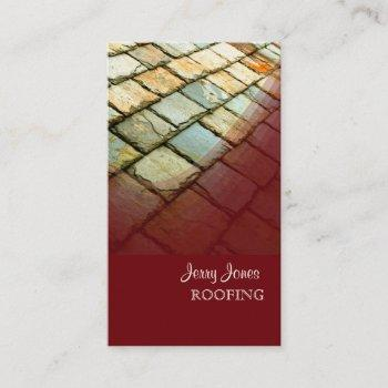 slate roofing, photo business cards