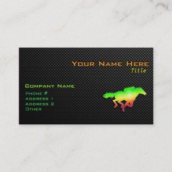 sleek horse racing business card