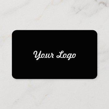 sleek with a pop business card
