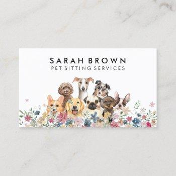 small size medium dog trainer business card