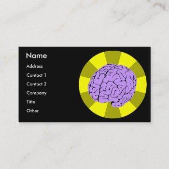 smart brain business card