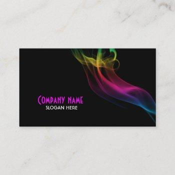 smoke effect business card