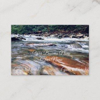 smoky mountain cascades business card