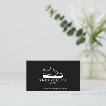 sneaker sport shoes hand drawn black business card